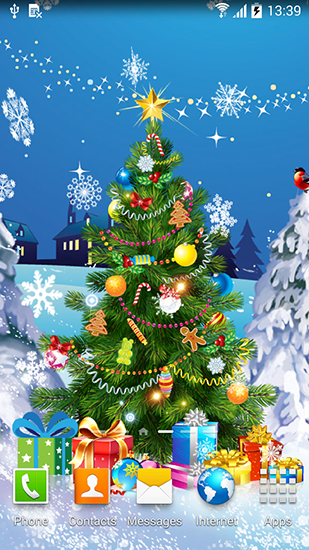 Download Interaktiv Live Wallpaper Christmas 2015 für Android kostenlos.