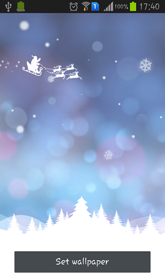 Kostenlos Live Wallpaper Christmas dream für Android Smartphones und Tablets downloaden.