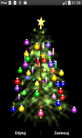 Download Feiertage Live Wallpaper Christmas tree 3D by Zbigniew Ross für Android kostenlos.