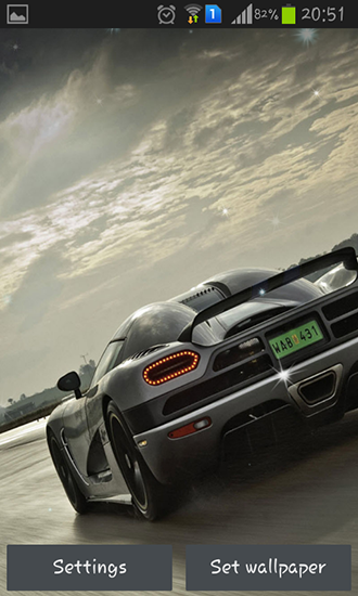 Download Auto Live Wallpaper Cool cars für Android kostenlos.