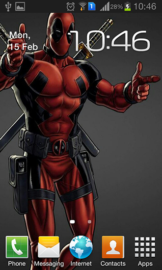 Download Kino Live Wallpaper Deadpool für Android kostenlos.