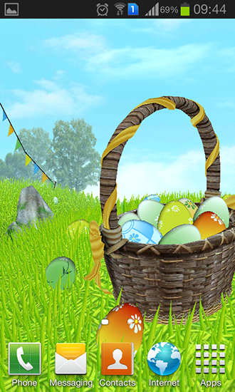Download Feiertage Live Wallpaper Easter: Meadow für Android kostenlos.