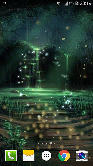Download Fantasy Live Wallpaper Fireflies by Live wallpaper HD für Android kostenlos.