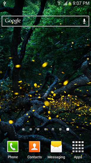 Download Live Wallpaper Fireflies by Top live wallpapers hq für Android 4.4.2 kostenlos.