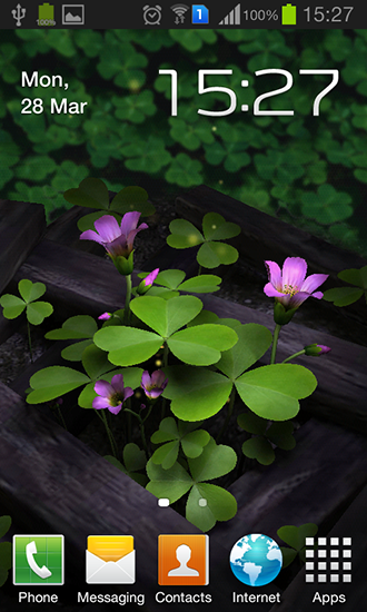Download Live Wallpaper Flowers 3D für Android 4.4.4 kostenlos.