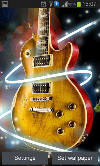 Download Musik Live Wallpaper Guitar by Happy live wallpapers für Android kostenlos.