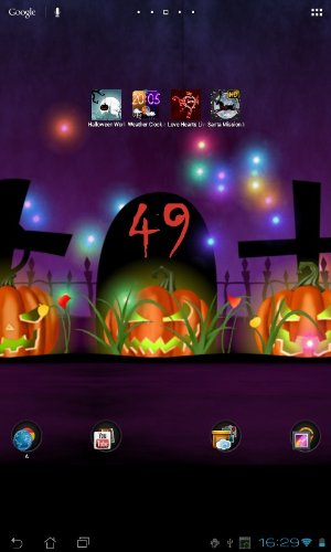 Download Landschaft Live Wallpaper Halloween für Android kostenlos.