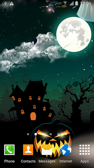 Kostenlos Live Wallpaper Halloween by Blackbird wallpapers für Android Smartphones und Tablets downloaden.