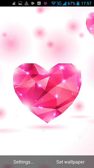 Kostenlos Live Wallpaper Hearts of love für Android Smartphones und Tablets downloaden.