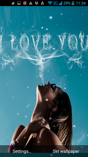 Download Mädchen Live Wallpaper I love you by Live Wallpapers Ultra für Android kostenlos.