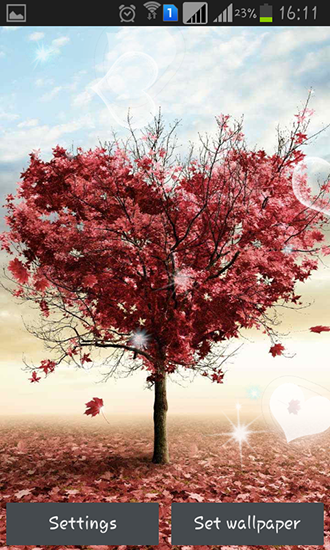 Download Live Wallpaper Love tree by Pro live wallpapers für Android 4.0.4 kostenlos.