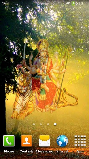 Download Live Wallpaper Magic Durga & temple für Android-Handy kostenlos.