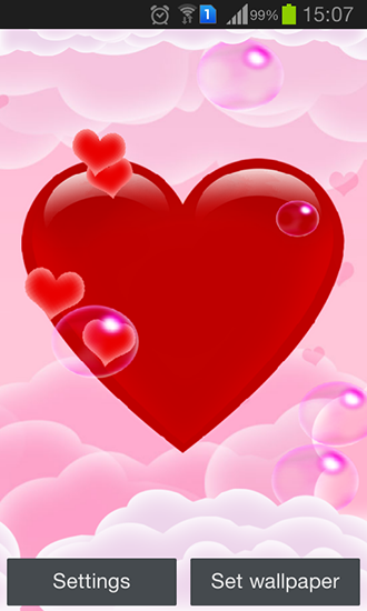 Kostenlos Live Wallpaper Magic heart für Android Smartphones und Tablets downloaden.