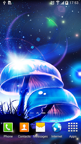 Kostenlos Live Wallpaper Magic mushroom für Android Smartphones und Tablets downloaden.