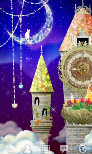 Kostenlos Live Wallpaper Magical clock tower für Android Smartphones und Tablets downloaden.