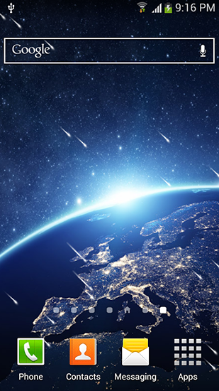Kostenlos Live Wallpaper Meteor shower by Top live wallpapers hq für Android Smartphones und Tablets downloaden.