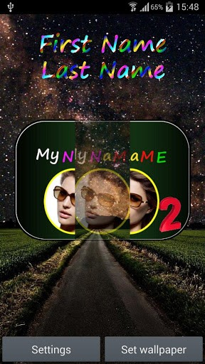 Download Live Wallpaper My name 2 für Android-Handy kostenlos.