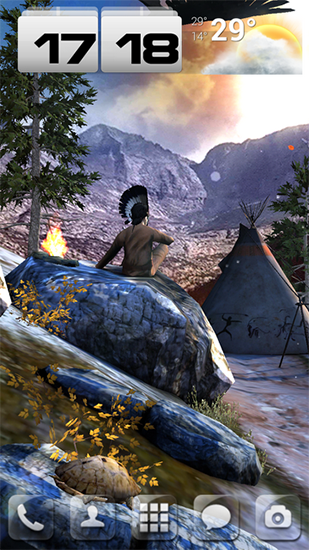 Download Tiere Live Wallpaper Native american 3D pro full für Android kostenlos.