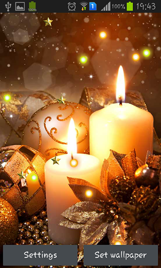 Download Interaktiv Live Wallpaper New Year candles für Android kostenlos.