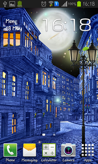Download Architektur Live Wallpaper Night city by  Blackbird wallpapers für Android kostenlos.