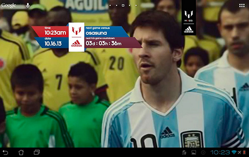 Download Sport Live Wallpaper Official Messi für Android kostenlos.