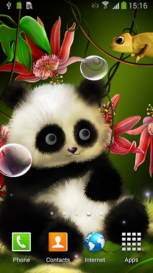 Kostenlos Live Wallpaper Panda by Live wallpapers 3D für Android Smartphones und Tablets downloaden.