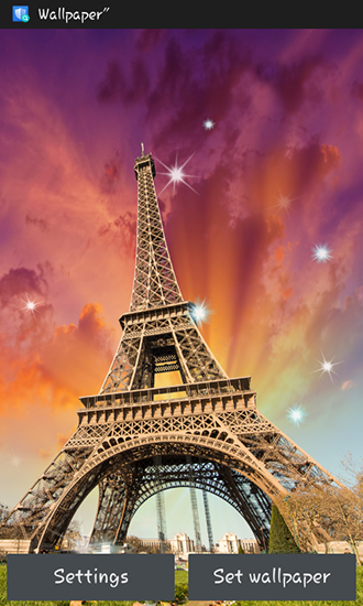Download Architektur Live Wallpaper Paris für Android kostenlos.