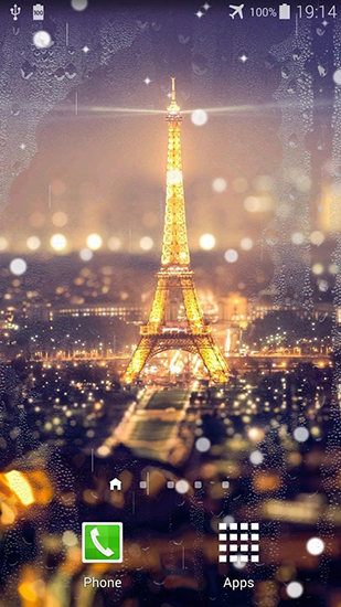 Download Architektur Live Wallpaper Paris night für Android kostenlos.