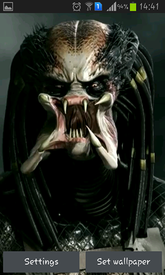 Download Kino Live Wallpaper Predator 3D für Android kostenlos.