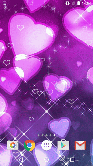 Download Live Wallpaper Purple hearts für Android 6.0 kostenlos.
