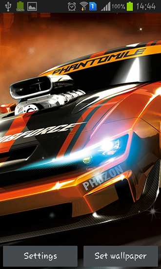 Download Live Wallpaper Racing cars für Android 4.1 kostenlos.