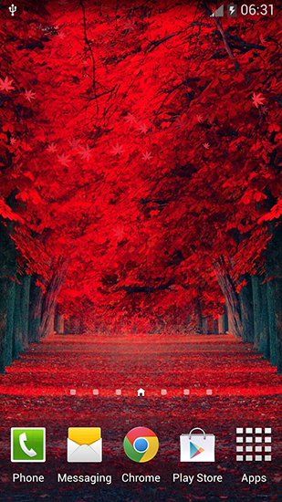 Download Live Wallpaper Red leaves für Android 4.3.1 kostenlos.