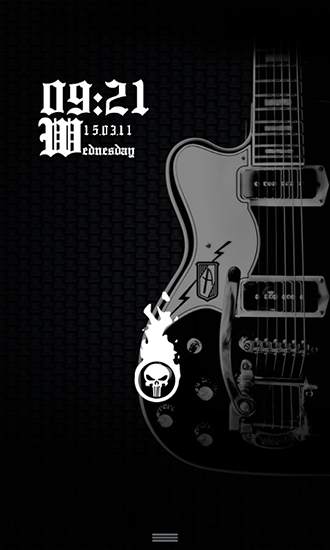 Download Musik Live Wallpaper Rock and roll never die für Android kostenlos.