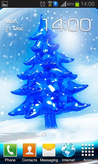 Download Feiertage Live Wallpaper Snowy Christmas tree HD für Android kostenlos.