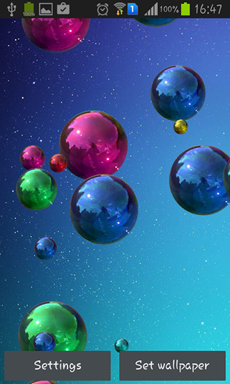 Download Live Wallpaper Space bubbles für Android 4.1 kostenlos.
