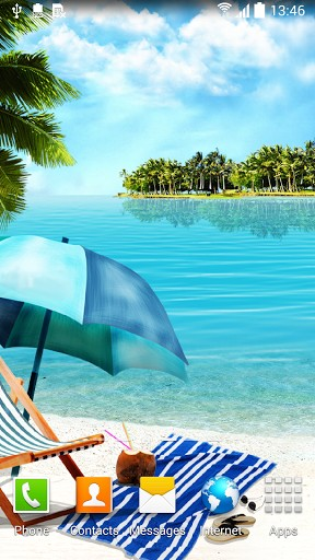 Kostenlos Live Wallpaper Summer beach für Android Smartphones und Tablets downloaden.
