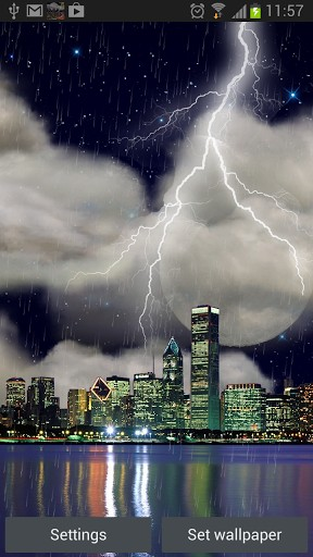 Download Live Wallpaper The real thunderstorm HD (Chicago) für Android-Handy kostenlos.
