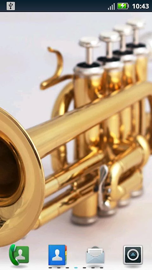 Download Musik Live Wallpaper Trumpets für Android kostenlos.