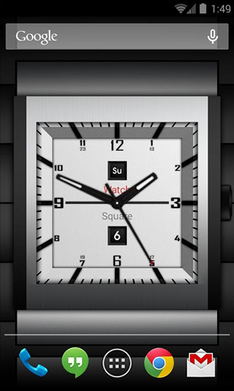 Kostenlos Live Wallpaper Watch square lite für Android Smartphones und Tablets downloaden.