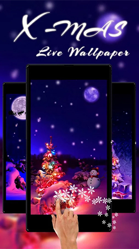 Bildschirm screenshot Christmas tree by Live Wallpaper Workshop für Handys und Tablets.