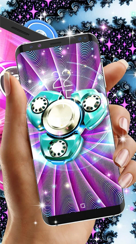 Bildschirm screenshot Fidget spinner by High quality live wallpapers für Handys und Tablets.