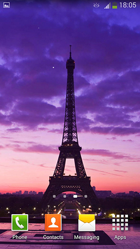 Bildschirm screenshot Paris by Cute Live Wallpapers And Backgrounds für Handys und Tablets.