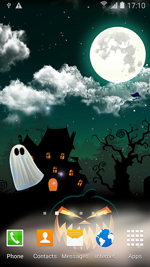 Bildschirm screenshot Halloween by Blackbird wallpapers für Handys und Tablets.