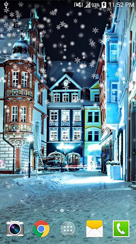Snowy night by Live wallpaper HD